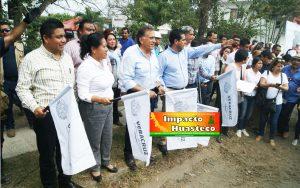 Gestiona David Guzmán obras prioritarias para Ixcatepec